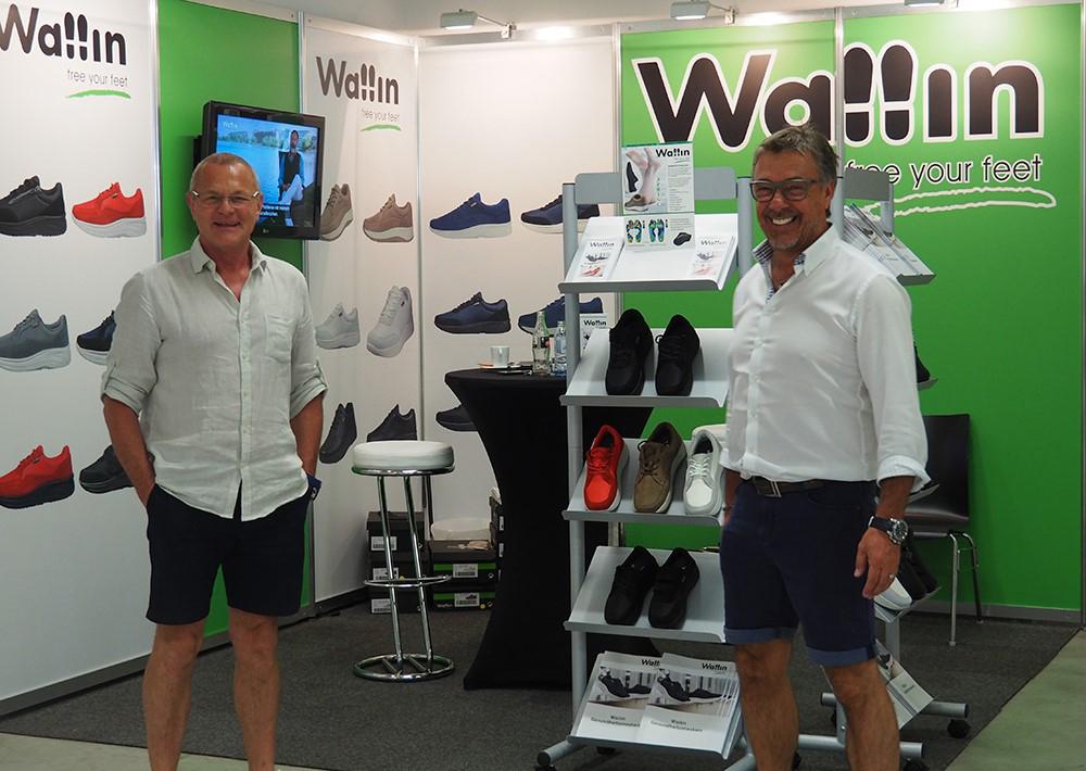 Harald Eichinger und Franz Lichtenberger vertraten unsere Firma auf der Schuh Austria – Messe mit der neuen Kollektion von Wallin Shoes