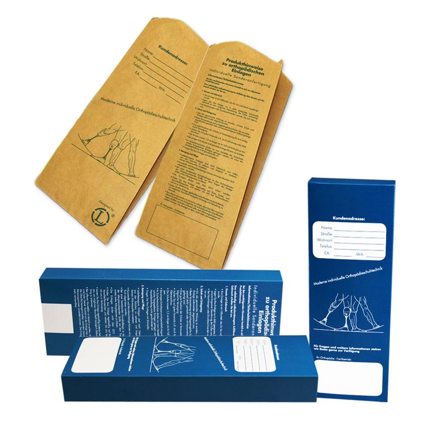 Papier statt Plastik - Papiertüte und Karton für unsere Einlagenrohlinge